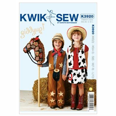Rodeo-Outfit (Kinder) & Steckenpferd, KwikSew 3920 | 98 - 140