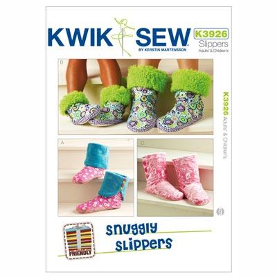 Slipper für Erwachsene | Kinder, KwikSew 3926 | XS - XL