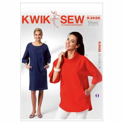 Sweatshirt | Kleid, KwikSew 3928 | XS - XL