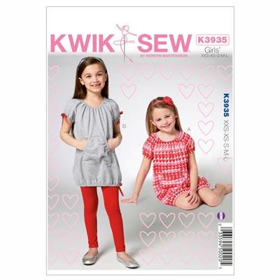 Kleid | Leggings für Mädchen, KwikSew 3935 | 98 - 140
