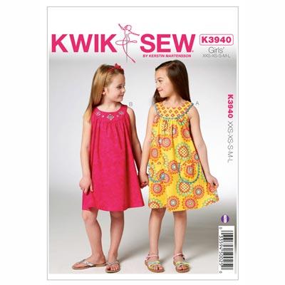 Kleid für Mädchen, KwikSew 3940 | 98 - 140
