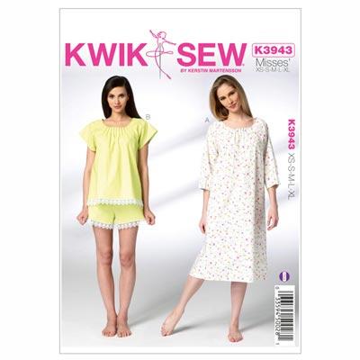 Pyjama | Nachthemd, KwikSew 3943 | XS - XL