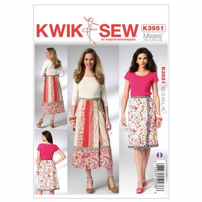 Wickelrock, KwikSew 3951 | XS - XL