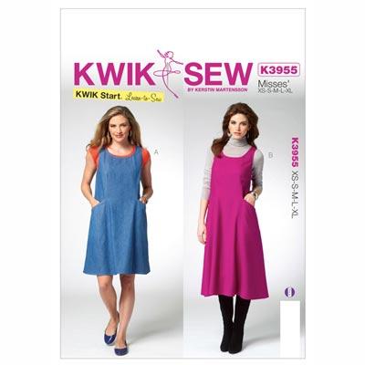 Kleider, KwikSew 3955 | XS - XL