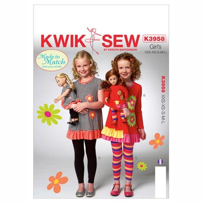 Shirts | Leggings, KwikSew 3958 | 98 - 140