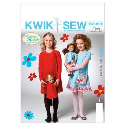 Kleider | Tasche, KwikSew 3959 | 98 - 140