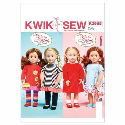 Puppenkleidung / Taschen, KwikSew 3965