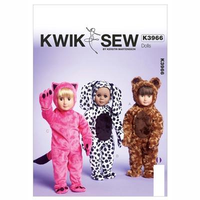 Kostüme für Puppen, KwikSew 3966