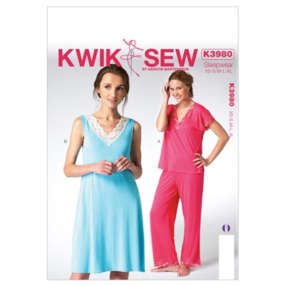 Schlafanzug, KwikSew 3980 | XS - XL