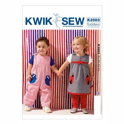 Kinderkleid | Overall, KwikSew 3983 | 80 - 104