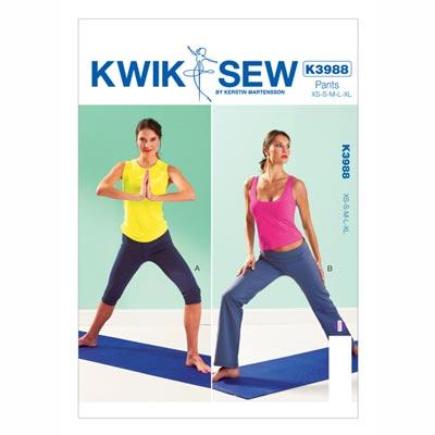 Yogahose, KwikSew 3988 | XS - XL
