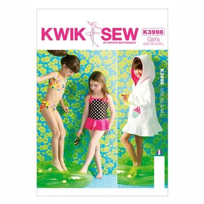 Kinderbadeanzug | -Bikini, KwikSew 3998 | 98 - 140