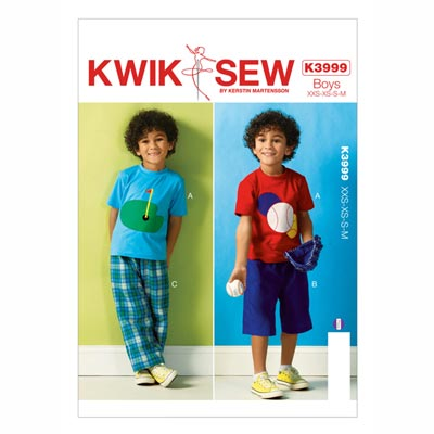 Jungshose | T-Shirt | Shorts, KwikSew | 98 - 128