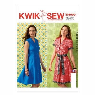 Kleid | Gürtel, KwikSew 4000 | XS - XL