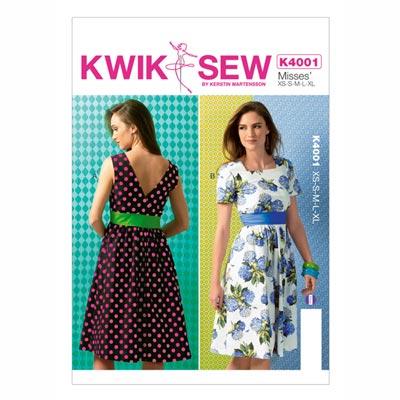 Kleid | Gürtel, KwikSew 4001 | XS - XL