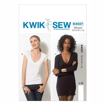 Top, KwikSew 4027 | XS–XL