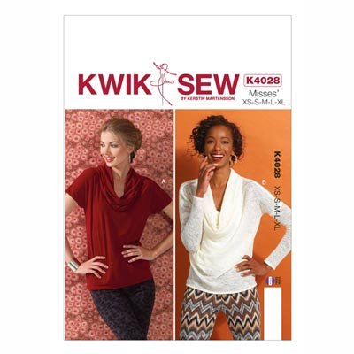 Top, KwikSew 4028 | XS–XL