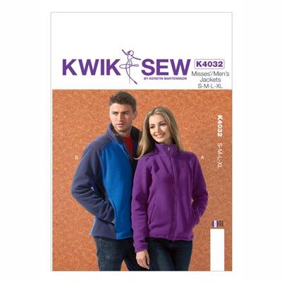 Frauen- | Herrenjacke, KwikSew 4032 | XS–XL