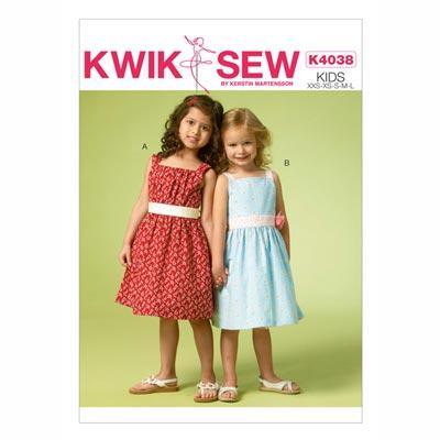 Kinderkleid, KwikSew 4038 | 98 - 140
