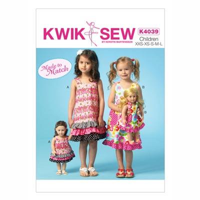 Kinderkleid, KwikSew 4039 | 98 - 140