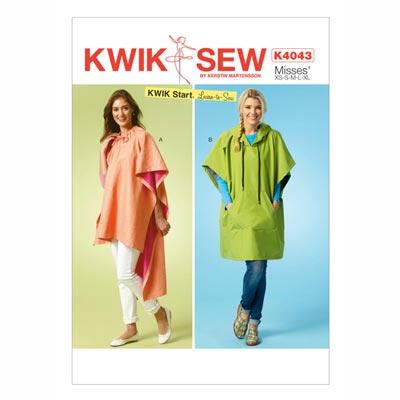 Poncho, KwikSew 4043 | XS - XL