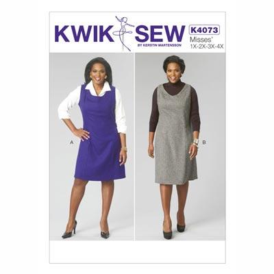 Damenkleider, KwikSew 4073 | XL - 4XL
