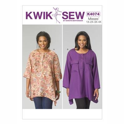 Tunika, KwikSew 4074 | XL - 4XL