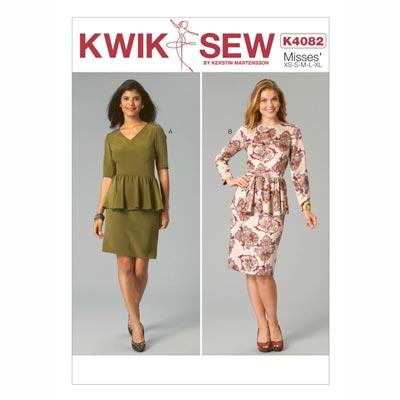 Kleide mit Schößchen, KwikSew 4082 | XS - XL