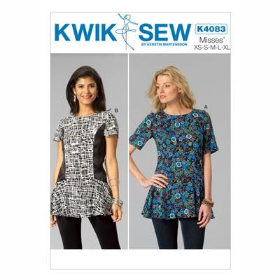 Top mit Schößchen, KwikSew 4083 | XS - XL