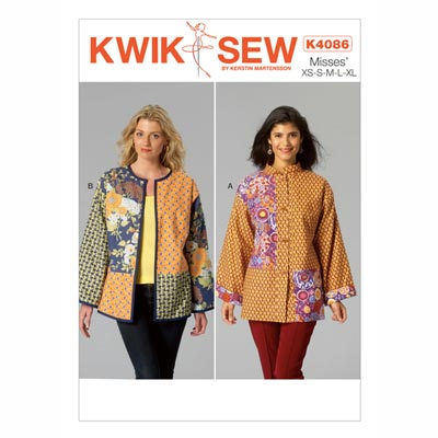 Damenjacken, KwikSew 4086 | XS - XL