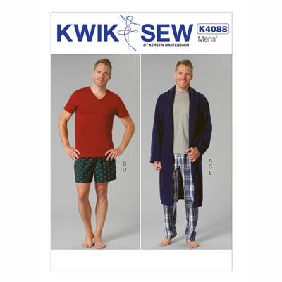 Herren Nacht- und Tageswäsche, KwikSew 4088 | S - XXL