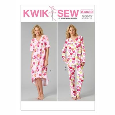 Nachtwäsche, KwikSew 4089 | XS - XL