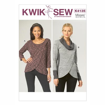 Top, KwikSew 4135 | XS - XL