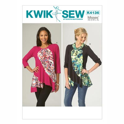 Top, KwikSew 4136 | XS - XL