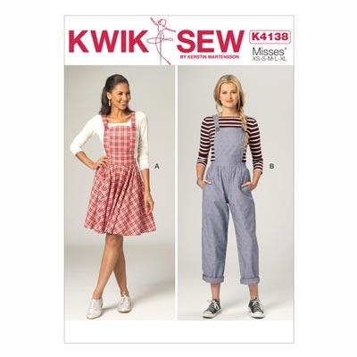 Latzhose | Kleid, KwikSew 4138 | XS - XL
