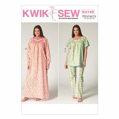 Schlafanzug, KwikSew 4145 | XS - XL