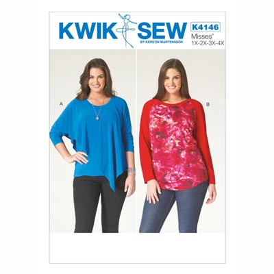 Top, KwikSew 4146 | XL - 4XL