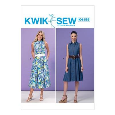 Kleid, KwikSew 4155 | XS–XL