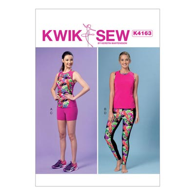 Top | Shorts | Leggings, KwikSew 4163 | XS–XL