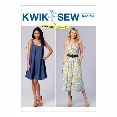 Kleid, KwikSew 4172 | XS - XL