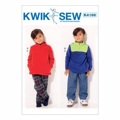 Kinder-Pullover | Hose, KwikSew 4186 | 104 - 140