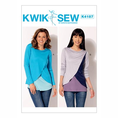 Tops, KwikSew 4187 | XS - XL