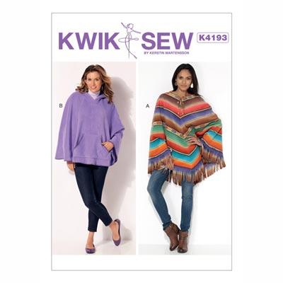 Poncho | Capes, KwikSew 4193 | XS - XL
