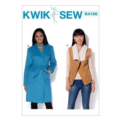 Jacke Weste Mantel Capes, KwikSew 4196 | XS - XL