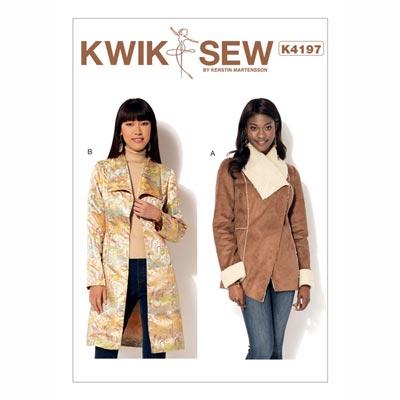 Mantel Capes Jacke Weste, KwikSew 4197 | XS - XL