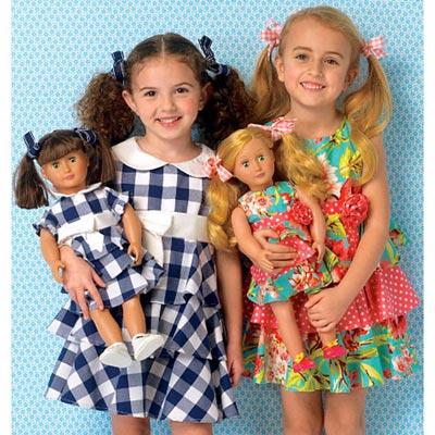Mädchen- und Puppenkleider, KwikSew 0193 | 98 - 140