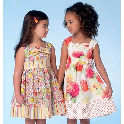 Mädchenkleider, KwikSew 4096 | 98 - 140