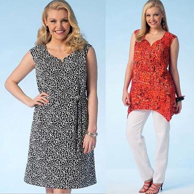 Plus Size Kleider | Gürtel | Tunika | Hose, KwikSew 4115 | XL - 4XL