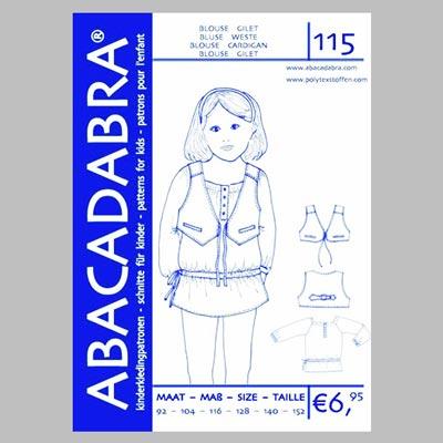 Bluse / Weste für Mädchen, Abacadabra A0115