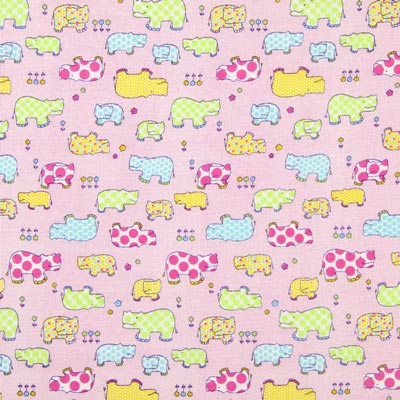 Flanell Tiere 2 - rosa